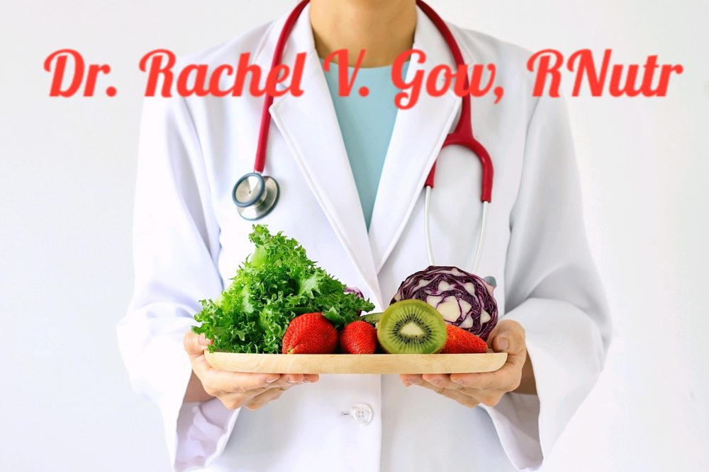 registered nutritionist Dr Rachel V Gow