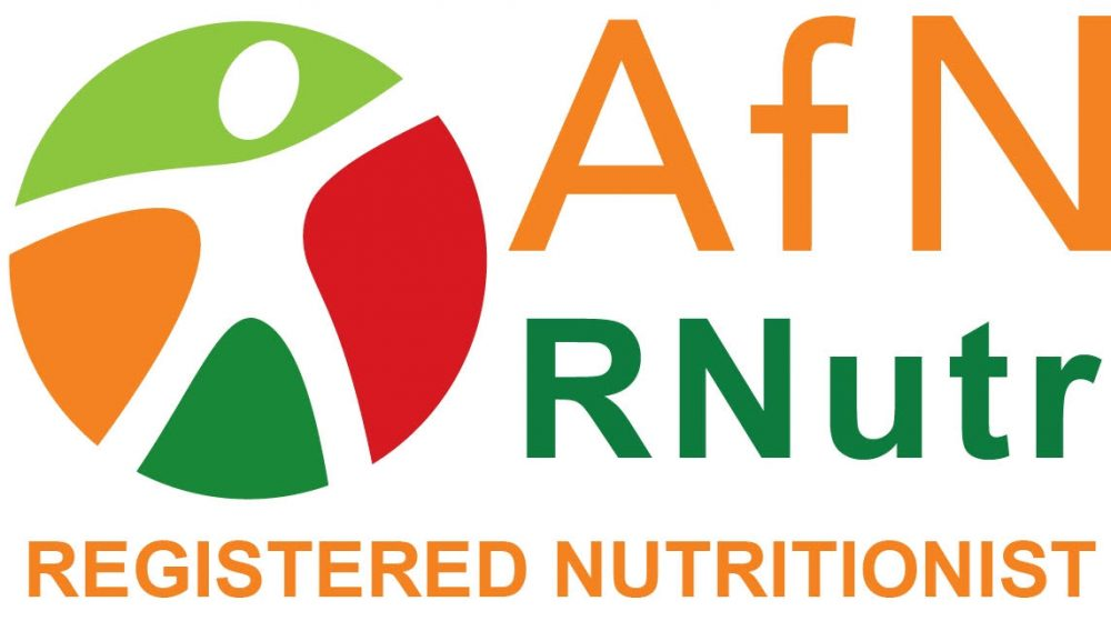 AfN logo registered nutritionist